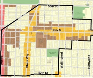 Wallingford Urban Village map