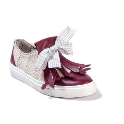 Sneaker donna drop bordò
