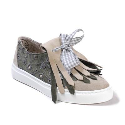 Sneaker donna drop oliva