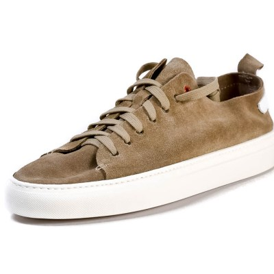 Sneaker uomo Piuma camoscio beige