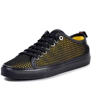 Sneaker uomo Piuma rete giallo
