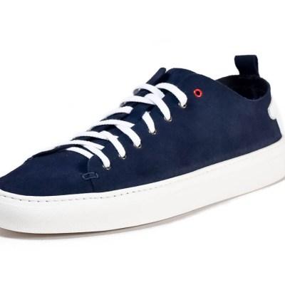 Sneaker uomo piuma camoscio navy