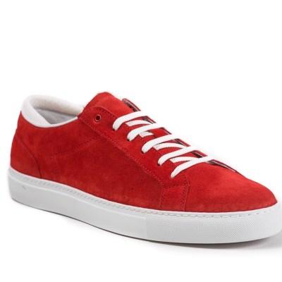 Sneaker uomo Roland camoscio rosso