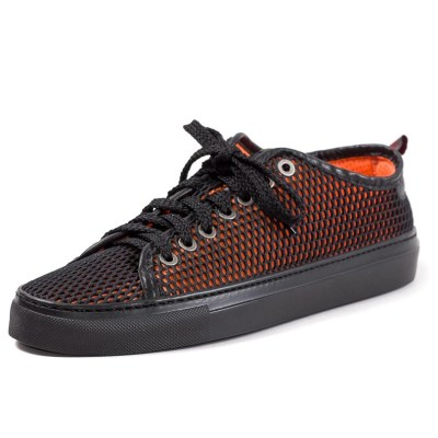 Sneaker uomo Piuma rete arancione