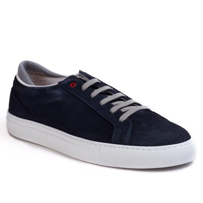 Sneaker uomo Roland camoscio navy