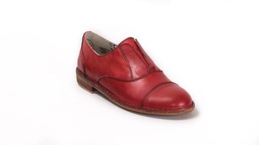 Sneaker donna France pelle rossa