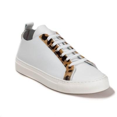 Sneaker donna Piuma D pelle bianco