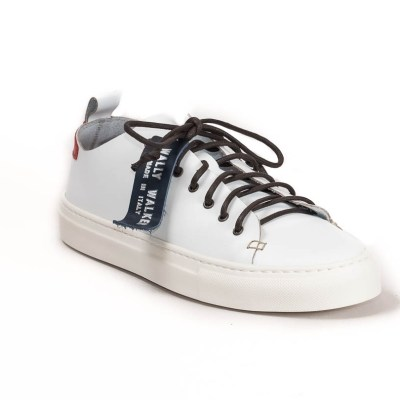 sneaker piuma pelle bianca-3075