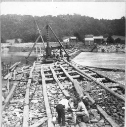 Rebuilding-Slate-Dam-at-Laurys-Station-on-Lehigh-River-1902