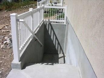 Basement Walkouts Orem Utah Walrap Unlimited Concrete Specialists   Precast Concrete Basement Steps   Basement Ideas   Image   Bethel Ct   Permentry   Basement Walls