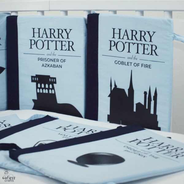 sewing pattern #bookCribBumper Harry Potter book crib bumpers - free template - free sewing pattern and instructions #diy #handmade