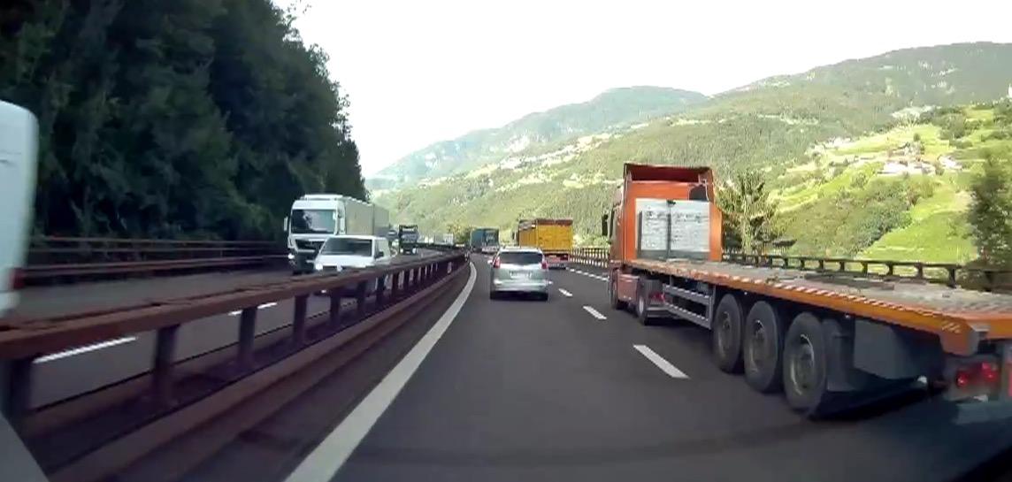 Traffico camion sull'autobrennero