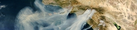 Californië Brand Luchtfoto