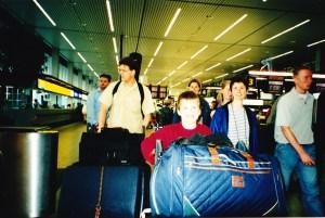 Vertrek Schiphol 20 juni 2001