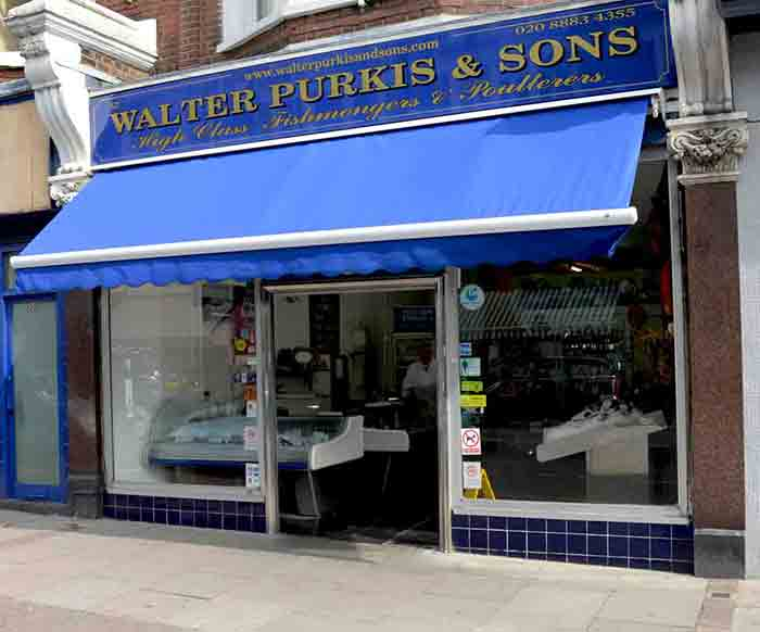 Walter Purkis Fishmongers Muswell Hill shop front