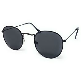 Round Retro Sunglasses - All Silver BLACK GOLD