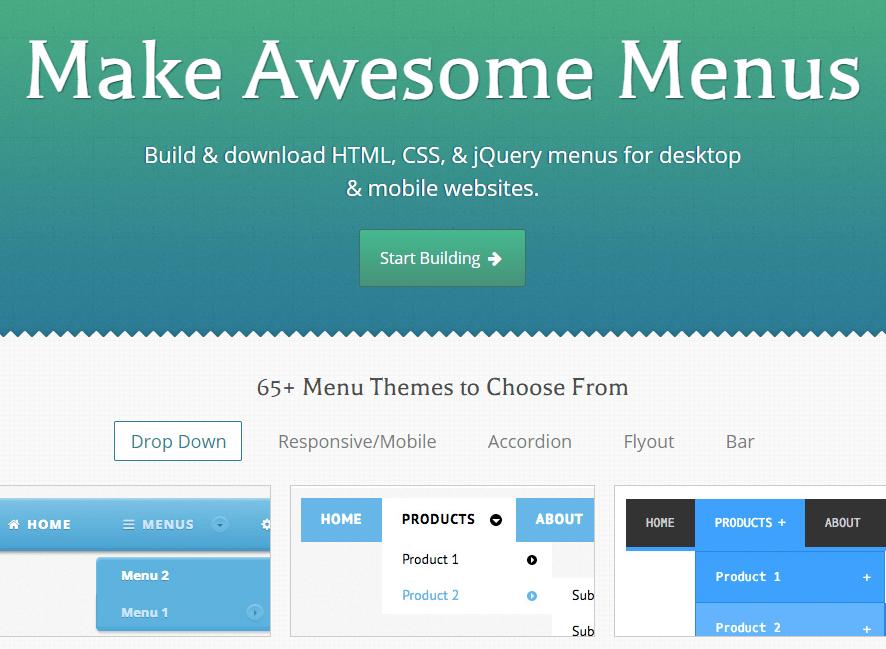 [CSS] 화면 상단 메인메뉴를 자동으로 만들어주는 CSS MenuMaker 소개