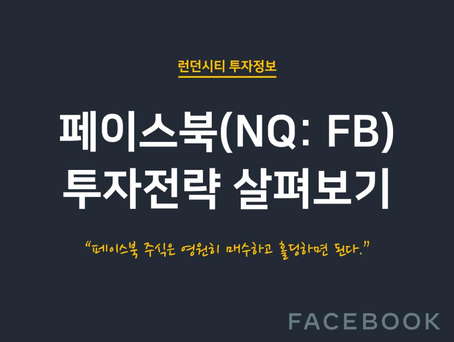 단 하나의 투자전략, 페이스북 주식을 매수하라