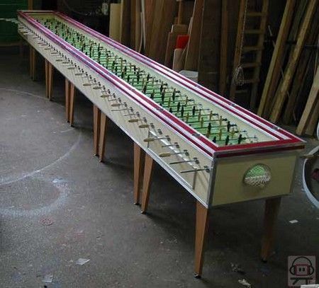 worlds longest foosball table fathers day 2010