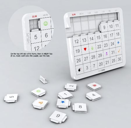 creative calendar design puzzle game image