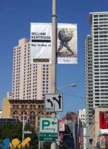 South African artist William Kentridge on the streets of San Francisco.