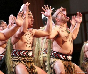 Students perform the famed New Zealand haka. Photo: James Heremala.