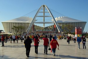 Moses Mabhida Stadium before the Spain game
