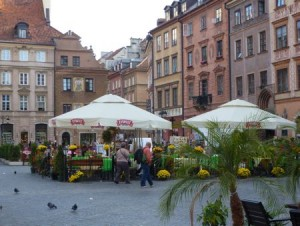 Warsaw's Old Town market square.