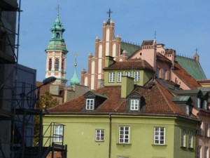 Skyline on entering Warsaw's Old Town.