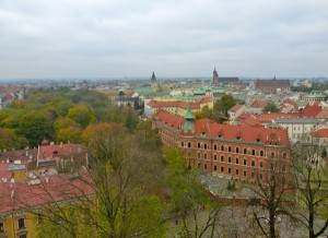 Krakow skyline from the 70-step bell tower