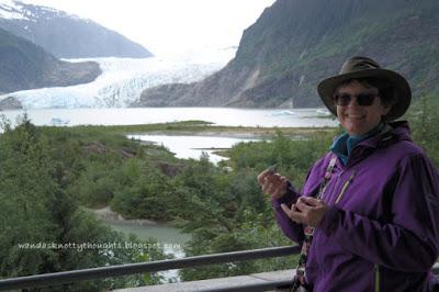 Tatting at Mendenhall Glacier, Juneau, Alaska    wandasknottythoughts.com