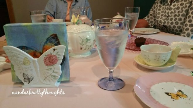 Butterfly tea  in May on wandasknottythoughts.com