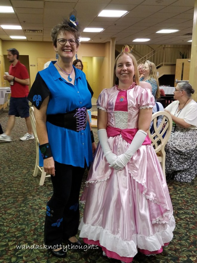 Tatterlady and Princess Peach at Palmetto Tat Days 2017 on wandasknottythoughts