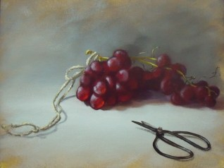 Grapes, Scissors (12x16)