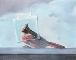 Cardinal (9x12, oil on panel)