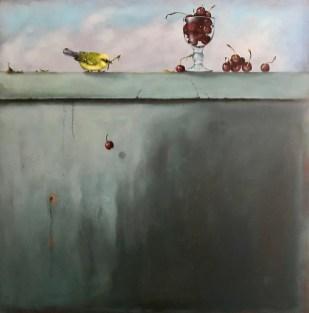 Cherries (30x30, oil on panel)