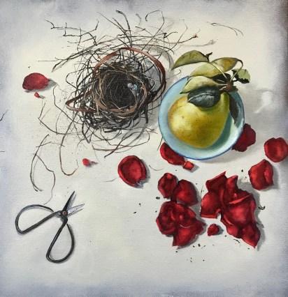 Fallen (16x16, oil on canvas)