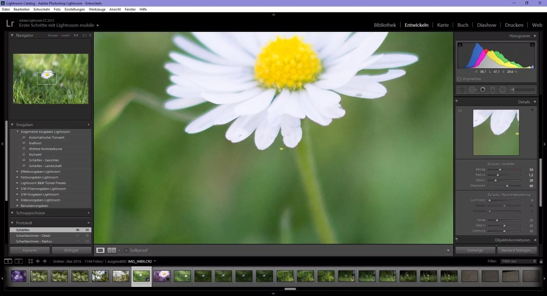 Falsches Makro Tutorial Lightroom Schärfen