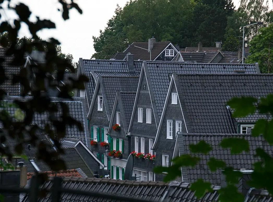 Blick auf die Dächer von Gräfrath