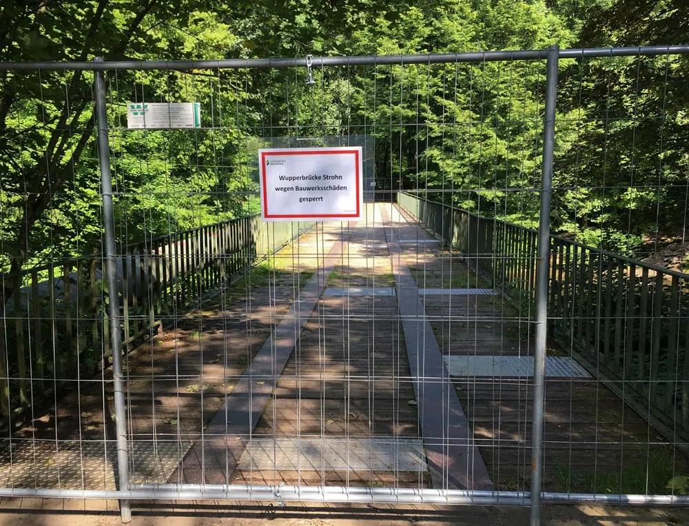 Gesperrte Brücke