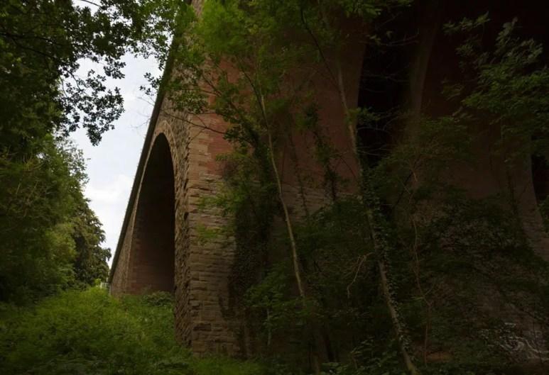 Auf den letzten Kilometern nach Altenberg ging es unter dieser imposanten Brücke durch.