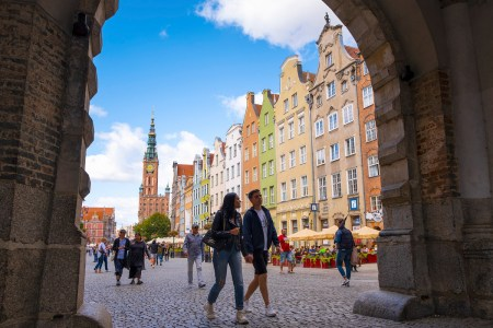 Puerta Verde de Gdansk, Polonia