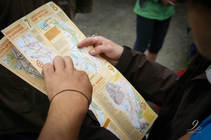 De kaart van de West Highland Way maakt het makkelijke voor wildkampeerders.