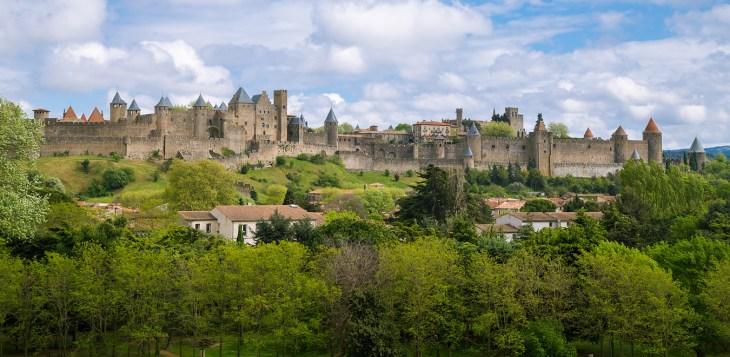 zicht op carcassonne