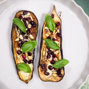 eggplant yoghurt pine nuts pomegranate