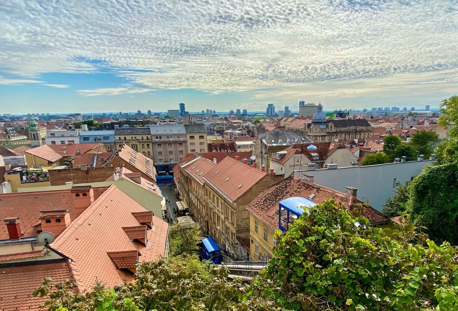 Zagreb view from Upper town Croatia
