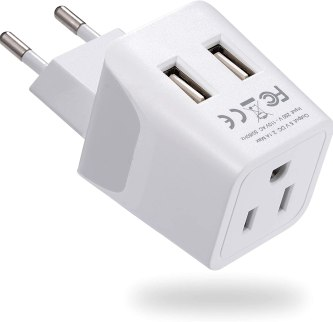 Travel Adapter with dual USB Travel essentials