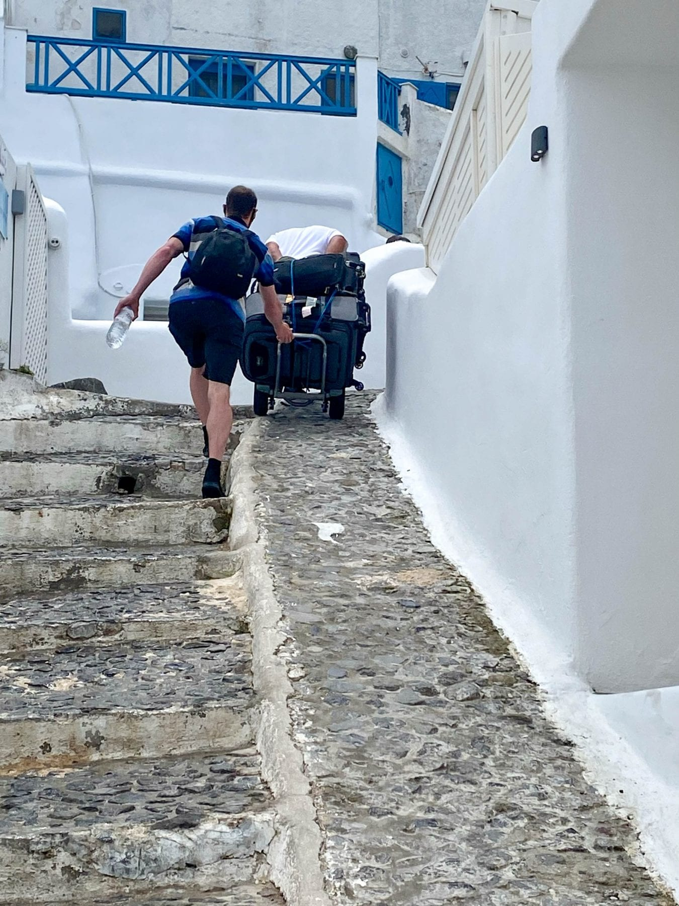 Luggage haul on Caldera