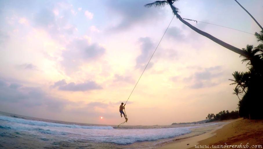 sunset beach galle