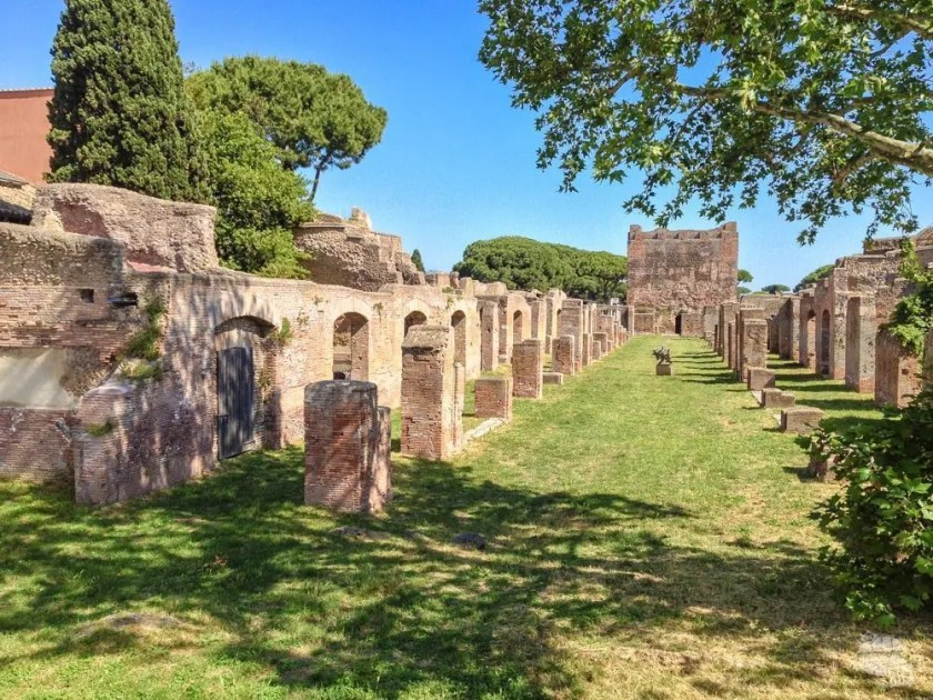 Among the Ruins of Ostia Antica
